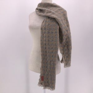 Kuna Tan & Gray Knit Alpaca Scarf